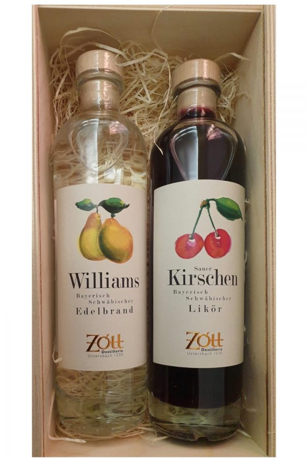 Geschenkschatulle_Edelobstbrand Likör 0,5 Willi Kirsche _ 1500x1500_ WEB